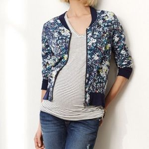 A Pea in the Pod Floral Bomber Jacket